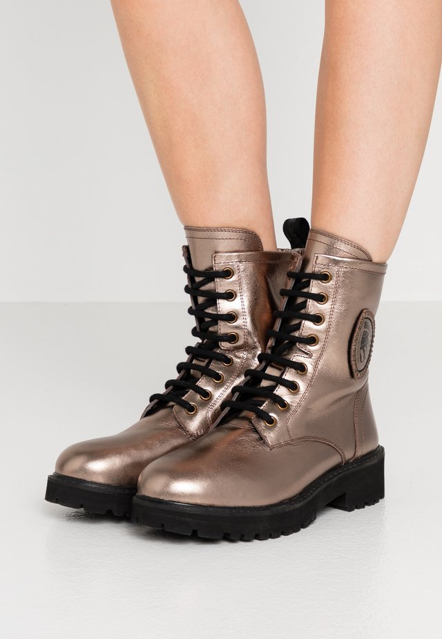 IRVINE - Lace-up ankle boots - bronze