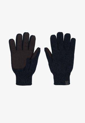 Gloves - navy twist