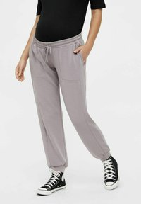 MAMALICIOUS - Tracksuit bottoms - dark grey - 0