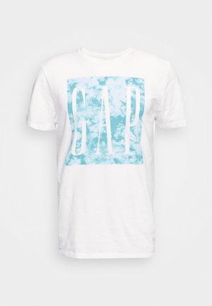 V CORP LOGO KNOCKOUT - T-shirt print - white global