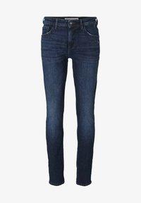 TOM TAILOR DENIM - Slim fit jeans - destroyed dark stone blue deni - 6