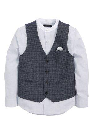 NAVY PUPPYTOOTH WAISTCOAT/SHIRT SET (12MTHS-16YRS) - Waistcoat - blue