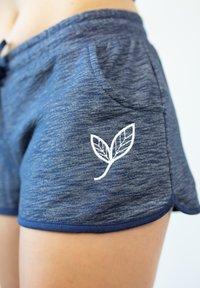 Biyoga - SHORTS -GOTS- BASIC DAMEN - Sports shorts - blau - 2