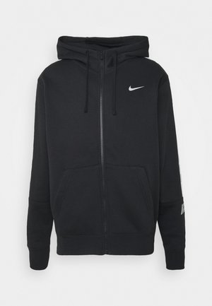 REPEAT HOODIE - Mikina na zip - black/reflective silver