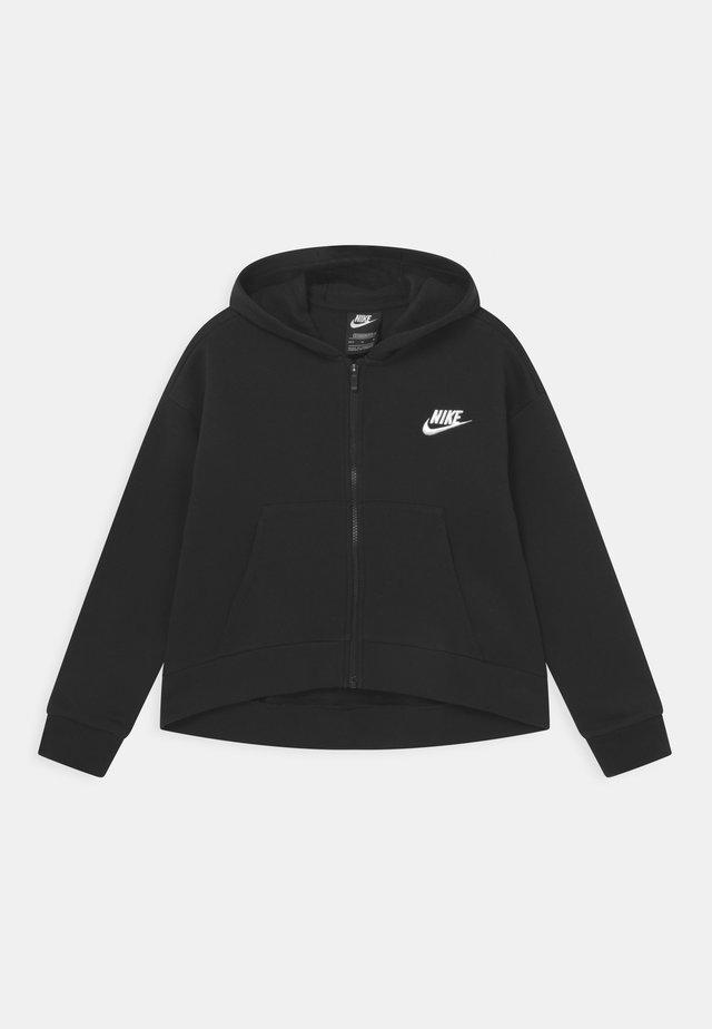 PLUS CLUB HOODIE - veste en sweat zippée - black/white