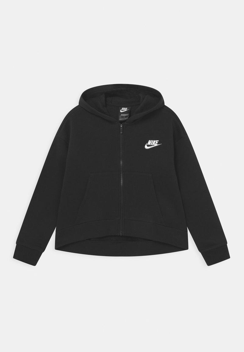 Nike Sportswear - PLUS CLUB HOODIE - Sudadera con cremallera - black/white