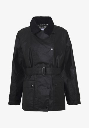 ALEXA CHUNG X BARBOUR AGATHA WAX - Short coat - black/northumberland