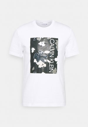 FLOWER BOX PRINT - T-shirt imprimé - white
