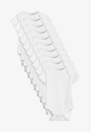 10 PACK GOTS ORGANIC COTTON SHORT SLEEVE BODYSUITS - Body - white