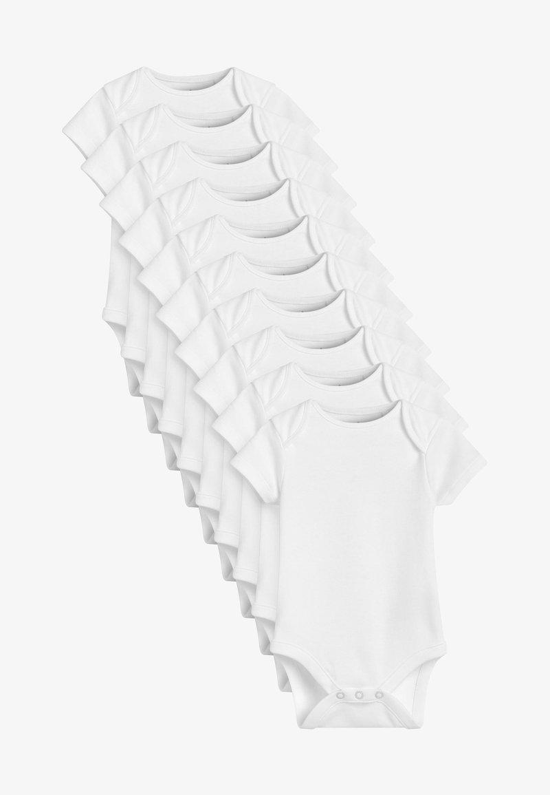 Next - 10 PACK GOTS ORGANIC COTTON SHORT SLEEVE BODYSUITS - Body - white