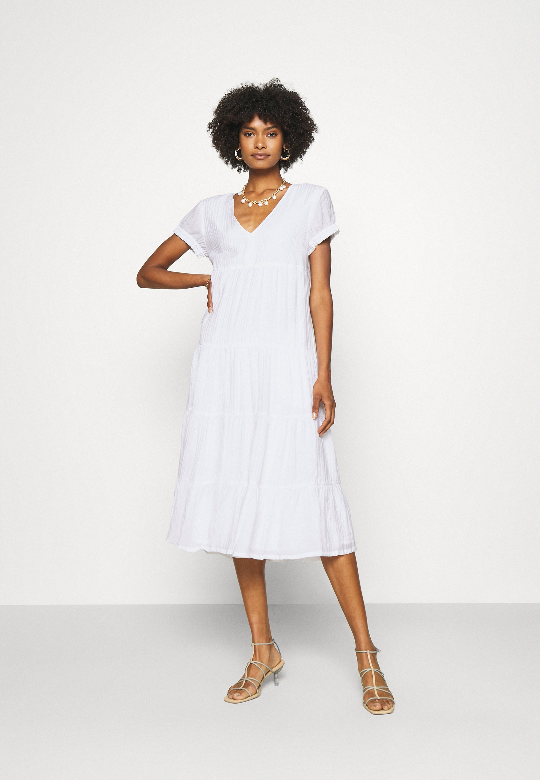 Women SEAMED TIERED DRESS - Day dress
