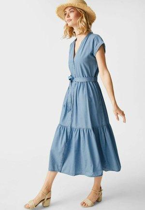 Shirt dress - ligth-blue denim
