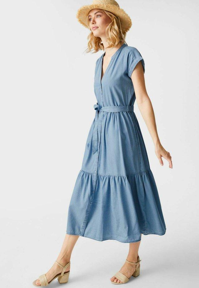 Sukienka koszulowa - ligth-blue denim