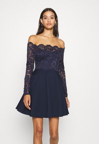 Nly by Nelly - OFF SHOULDER SKATER - Jersey dress - navy - 0