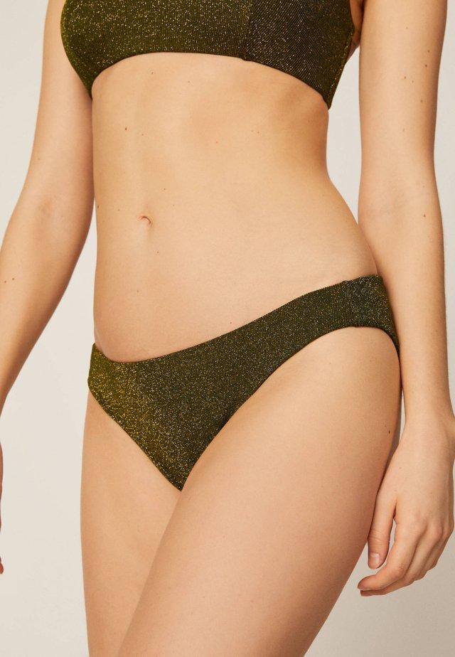 KLASSISCHER SLIP MIT GLITZER 30723365 - Bikini bottoms - khaki
