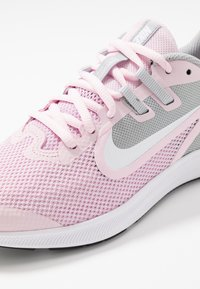 Nike Performance - DOWNSHIFTER 9 - Neutral running shoes - pink foam/white/metallic silver/pure platinum - 5