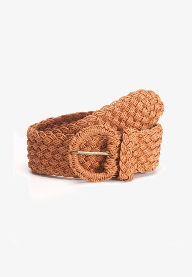 Tamaris - Braided belt - cognac