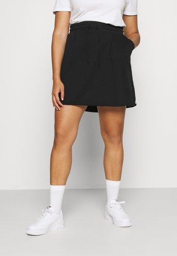 CLASH SKIRT - Minifalda - black
