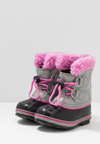 Sorel - CHILDRENS YOOT PAC - Winter boots - chrome grey/orchid - 3