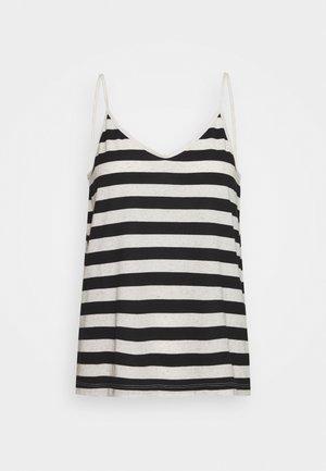 SLFIVY  V NECK STRAP - Top - black/white
