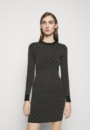 DOT MINI DRESS - Shift dress - concrete