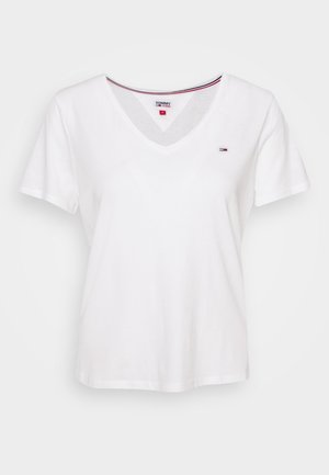 SLIM VNECK - T-shirt basique - white