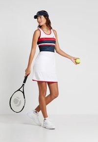 Fila - DRESS DORO - Jersey dress - white/blue/red - 1