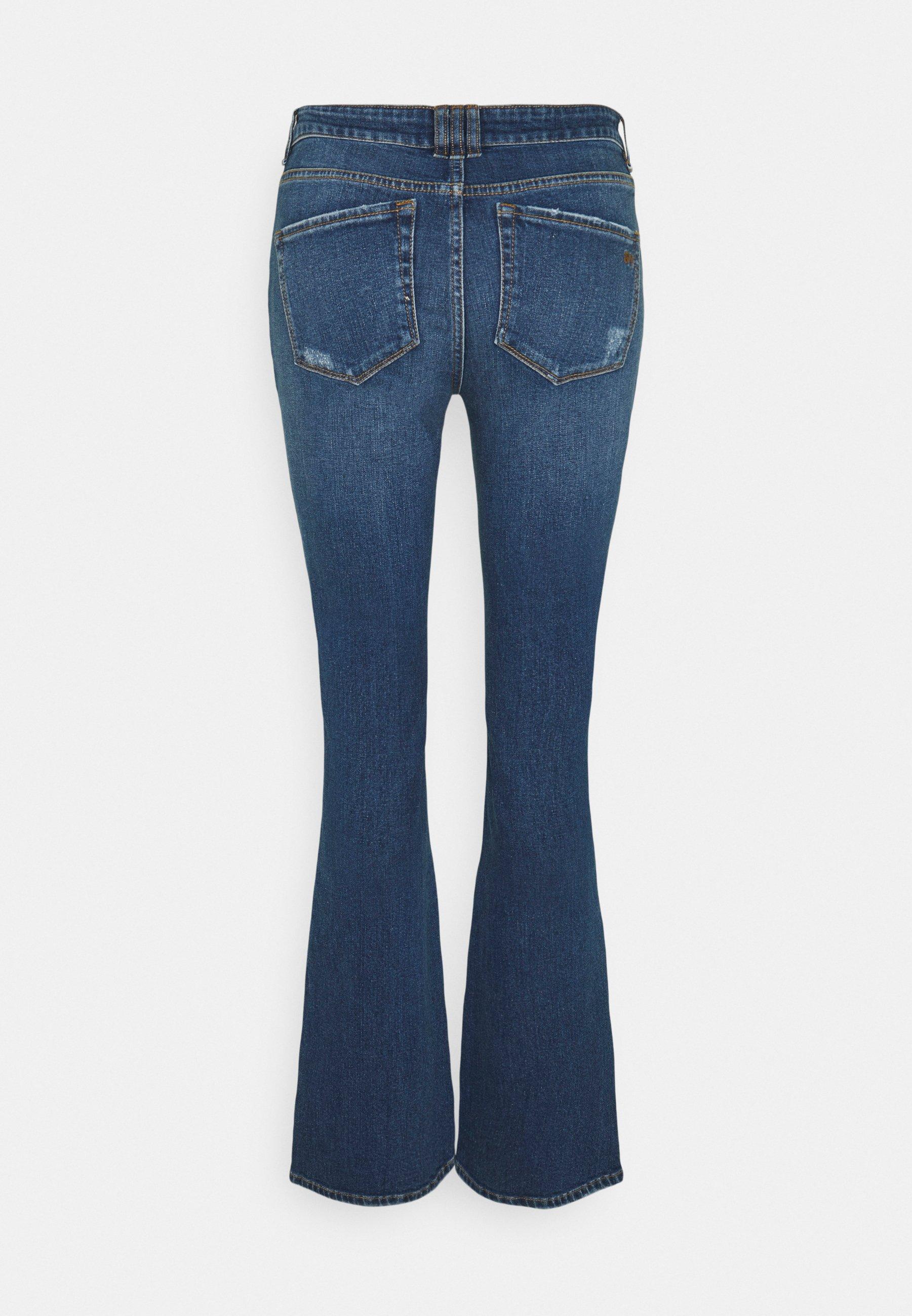 Donna TARA FLARE WASH BATH DISTRESSED - Jeans a zampa