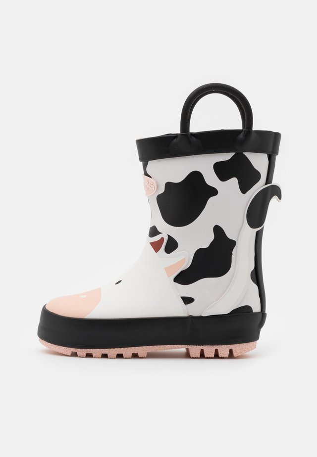 GERTIE - Wellies - black/white