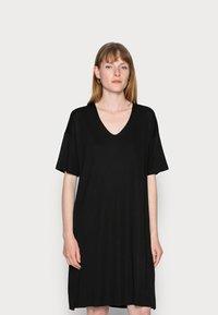 Marc O'Polo - DRESS SHORT SLEEVE - Day dress - black - 0