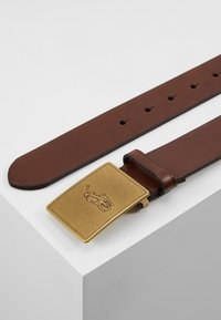 Polo Ralph Lauren - PLAQUE BELT - Pásek - brown - 2