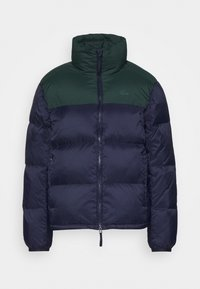 Lacoste - COLOR BLOCK PUFFER - Dunjakke - navy blue/sinople - 5