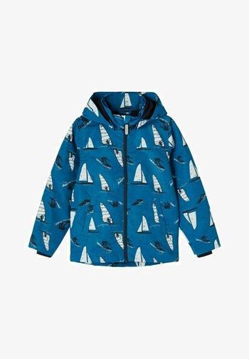 PRINT FRÜHJAHR - Outdoor jacket - mykonos blue