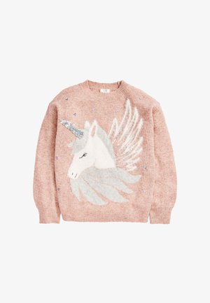 SEQUIN UNICORN  - Jumper - pink
