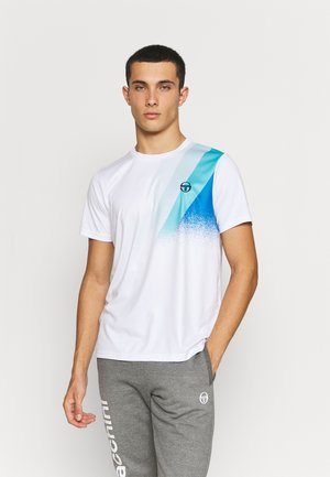 AREZZO TEE - Triko spotiskem - white/blue/multi