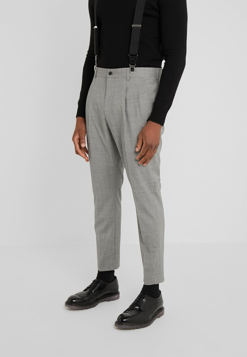 HUGO - FARLYS - Suit trousers - open grey