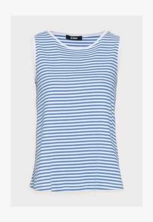 Top - white/blue