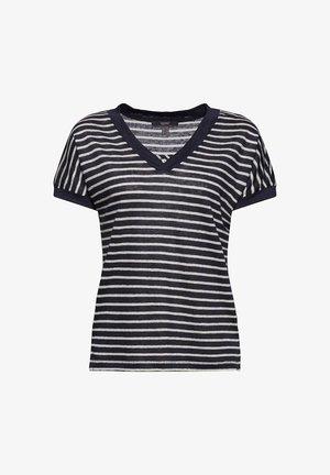 MIT STREIFEN - T-shirt med print - navy