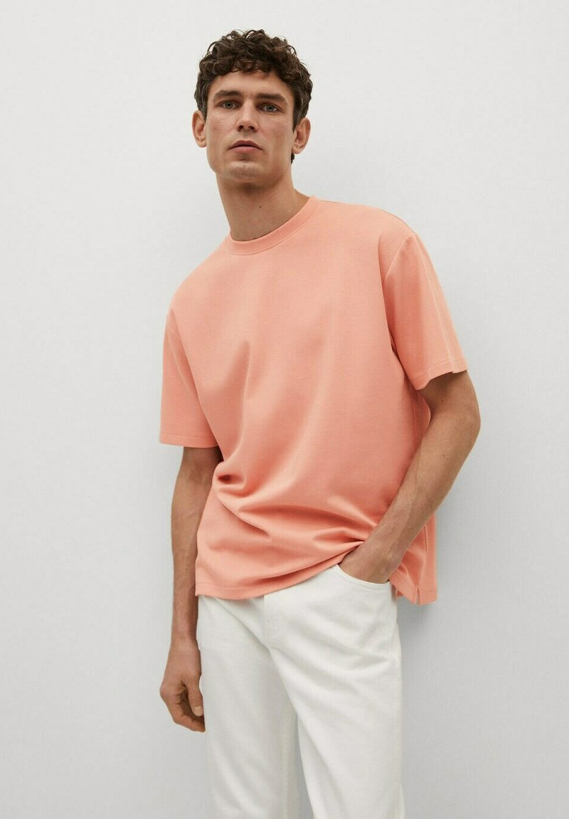 Mango - Basic T-shirt - rose pastel