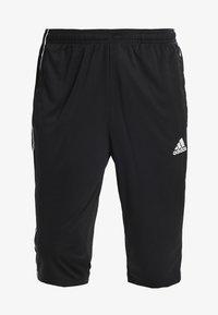 adidas Performance - CORE ELEVEN AEROREADY 3/4 SPORT PANTS - Träningsshorts 3/4-längd - black/white - 3