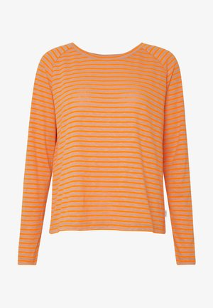 Long sleeved top - multi/flash orange