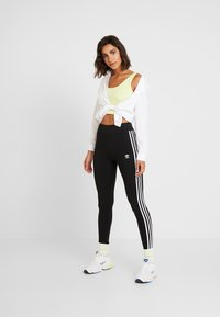 adidas Originals - Leggings - Trousers - black/white - 1