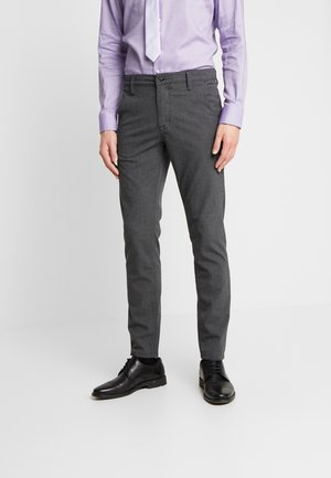 SLHSLIM STORM FLEX SMART PANTS - Trousers - grey melange