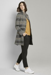 TOM TAILOR DENIM - Short coat - black grey yellow check - 1