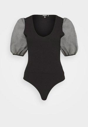 PUFF SLEEVE BODYSUIT - T-shirt con stampa - black