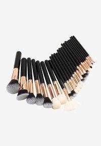 ZOË AYLA - 24PK MAKEUP BRUSH KIT - Makeup brush set - black and rosegold - 1