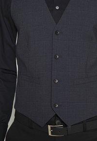 Esprit Collection - WINDOW CHECK - Waistcoat - dark blue - 3