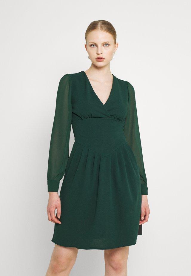 BELLA SLEEVE SKATER DRESS - Cocktail dress / Party dress - emerald green