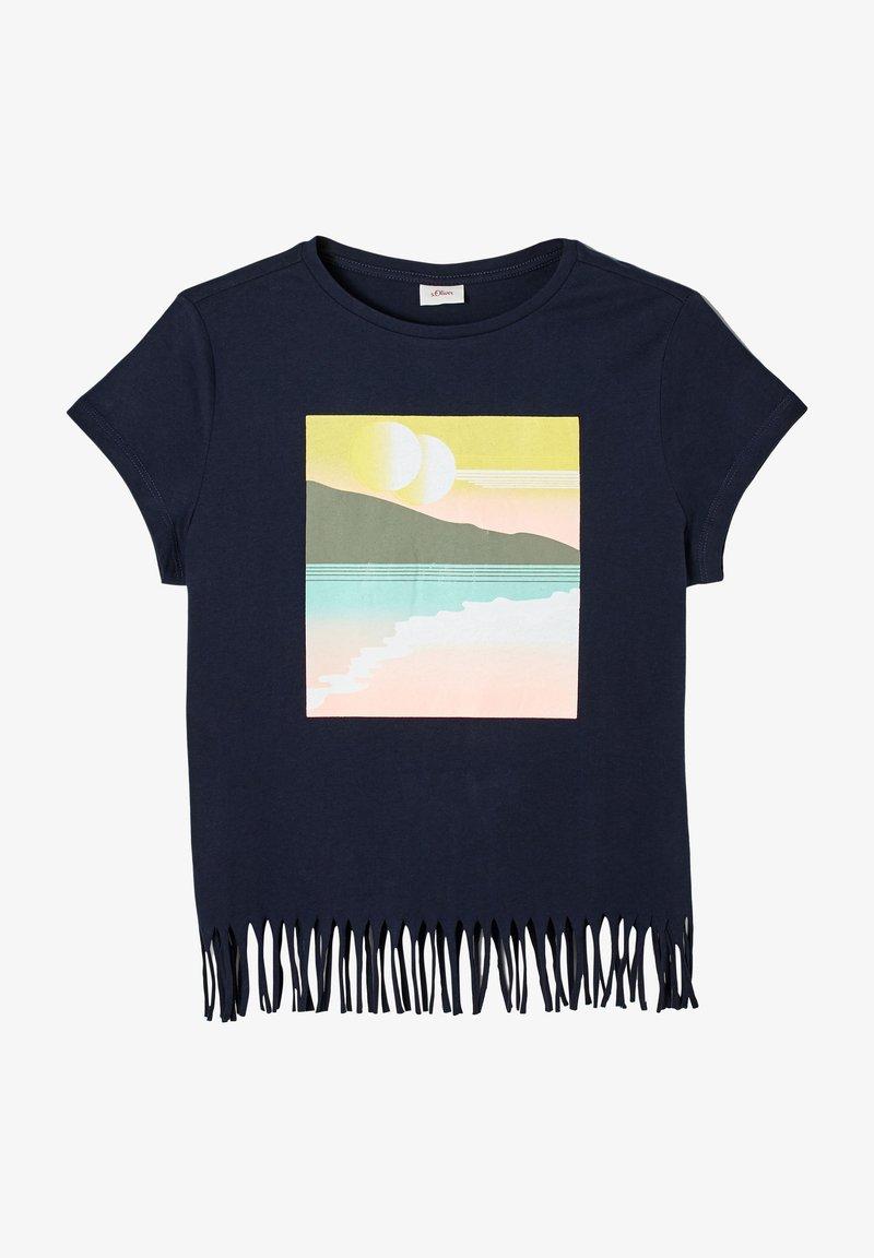 s.Oliver - Print T-shirt - navy