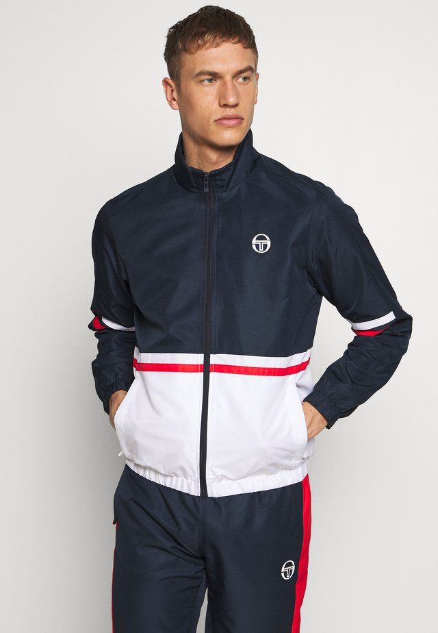 FELIX TRACKSUIT - Tracksuit - navy/white/vintage red